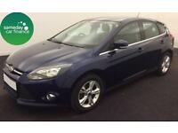 £121.12 PER MONTH BLUE 2011 FORD FOCUS 1.6 ZETEC 5 DOOR PETROL MANUAL