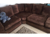 Large brown sofa