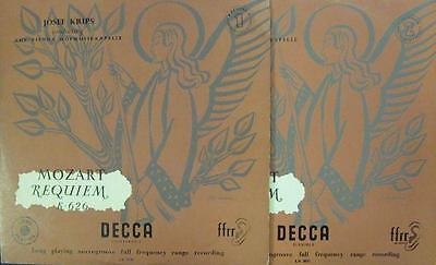 """Mozart/Krips(2x10"""" Vinyl)Requiem K.626-UK-LX 3030-31-Decca-Ex/VG"""