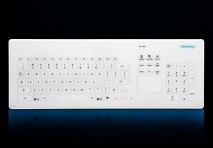 waterproof keyboard with touch surface