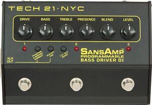 Bass DI driver Sansamp programmable