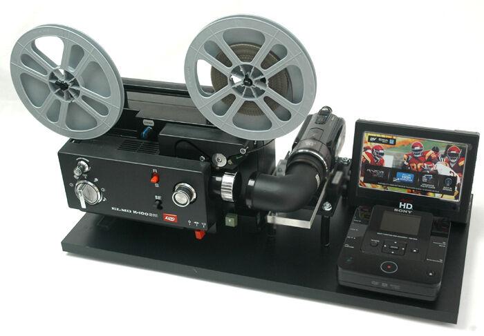 Elmo Movie Projector Telecine Video Transfer Unit, Dual 8 Built-In 2K HD Camera