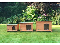 dog kennels. small medium large wooden. insulated.