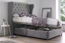 Winged Headboards - Ottoman Beds - Discounted Prices - Ranging from all Sizes - Visit Our Store!