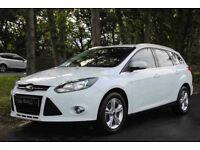 2012 62 Ford FOCUS Zetec ESTATE 1.6TDCi, New MOT & Service, £20 Road Tax, in Glacier White