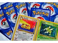 Looking for POKEMON CARDS AND FOLDERS. Will buy most cards.