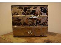 Floral Glass Jewelry Box