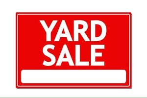 Large yard sale this long week end!!