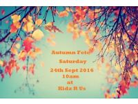 Autumn Fete - Tabletop sale, tombola, raffle, games, 50p prize everytime for the kidz