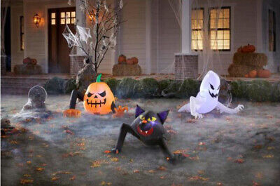 Gemmy 2.5 ft Reaching Monster Ghost Cat Halloween Inflatable Pack