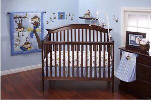 Baby boy 10 piece crib bedding set, Unopened