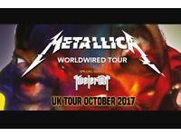 Metallica ticket (seated x1 Sun 22nd