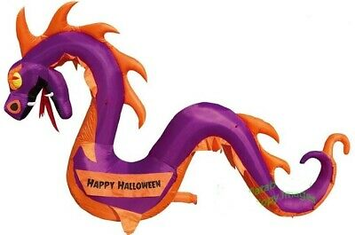 HALLOWEEN 12 FT purple SERPENT DRAGON BANNER INFLATABLE AIRBLOWN HAUNTED HOUSE