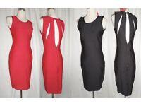 Plus size black red bodycon dress dresses
