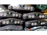 7 n64s consoles