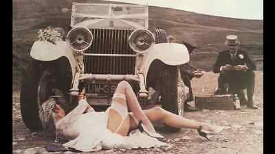 Vintage Rolls Royce Car Poster Art Deco