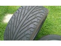 2 x part worn tyres 235/45 R17
