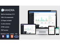Laravel Admin UI Starter Kit- Chandra