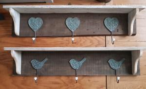 Shelf and hook racks
