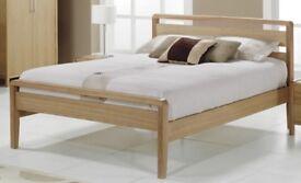King size wood frame bed