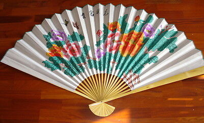 Grand Éventail Chinois-Pivoine-150cm-Chinese fan-Abanico-Angebot-ventaglio