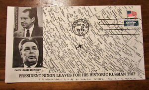 1972 President Richard Nixon's Trip to Russia 8 Cent Cover