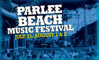 Two hard copy tickets for the Parlee Beach Music Festival