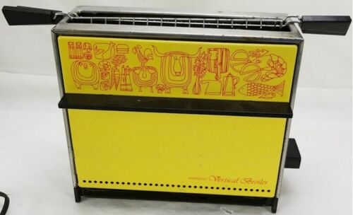 Vintage Presto Vertical Broiler Upright Toaster Yellow MCM Retro Harvest Gold