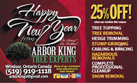 HAPPY NEW YEAR FROM ARBOR KING TREE EXPERTS