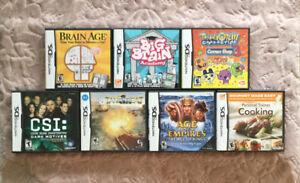 7x Nintendo DS Games