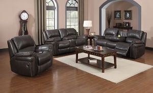 BRAND NEW LEATHER RECLINER SOFA SET FOR SALE AT FACTORY PRICE