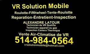 RÉPARATION,INSPECTION ROULOTTE TENTE ROULOTTE FIFTH WHEEL