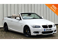 BMW 330D M-SPORT AUTO, CONVERTIBLE IN WHITE, FINANCE AVAILABLE PX EXCHANGE WELCO