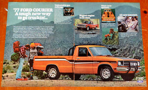 1977 FORD COURRIER PICKUP TRUCK AD - VINTAGE ANONCE 70S
