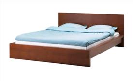 European king size 160cm Ikea Malm low bed
