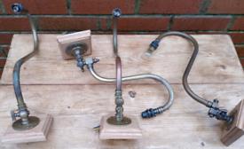 Antique gas lamps x4