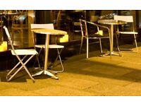Garden bistro tables and chairs