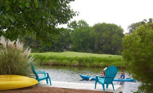 Luxury Waterfront, dock with kayaks and canoe on 12 mile lagoon,