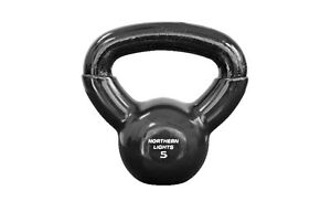 Northern Lights Round Vinyl Coated Kettlebells, 5lbs KBRVTKOLB05