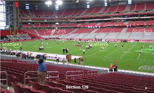Arizona Cardinals Lower Bowl Tickets 4 together