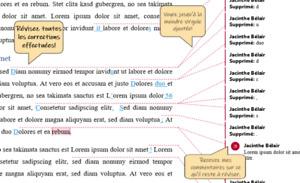 Correction de travaux d'étudiants, textes et manuscrits