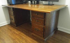 Vintage wooden lawyer desk