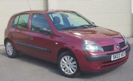 2003 (03) RENAULT CLIO 1.2 AUTHENTIQUE 5 DOOR CHEAP FIRST CAR