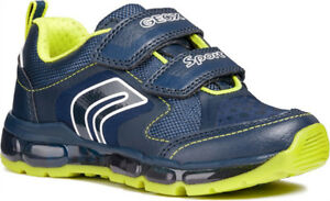 NEW IN BOX- GEOX JR ANDROID BOY Colour: NAVY/LIME Size 3