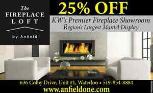 The Fireplace Loft-- One stop shop for Mantels and Fires Kitchener / Waterloo Kitchener Area image 1