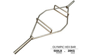 "Northern Lights 86"" Chrome Olympic Hex Bar Barbell BBOHEX86"