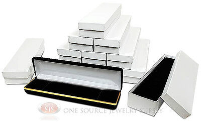 12 Piece Bracelet Watch Black Velvet Metal Jewelry Gift Boxes 8w X 2d X 1 18