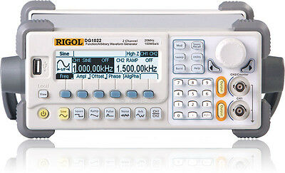 Rigol Dg1022 2-channel Arbitrary Waveform Function Generator 20 Mhz 100 Mss 4kb