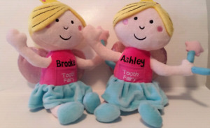 Girls personalized  tooth fairy dolls. With pocket for tooth.