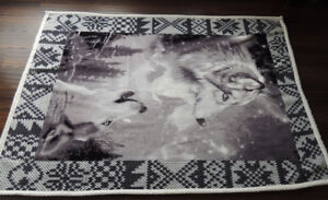 """Super Soft and beautiful Wolves fleece ( 65 """" by 46 """")"""